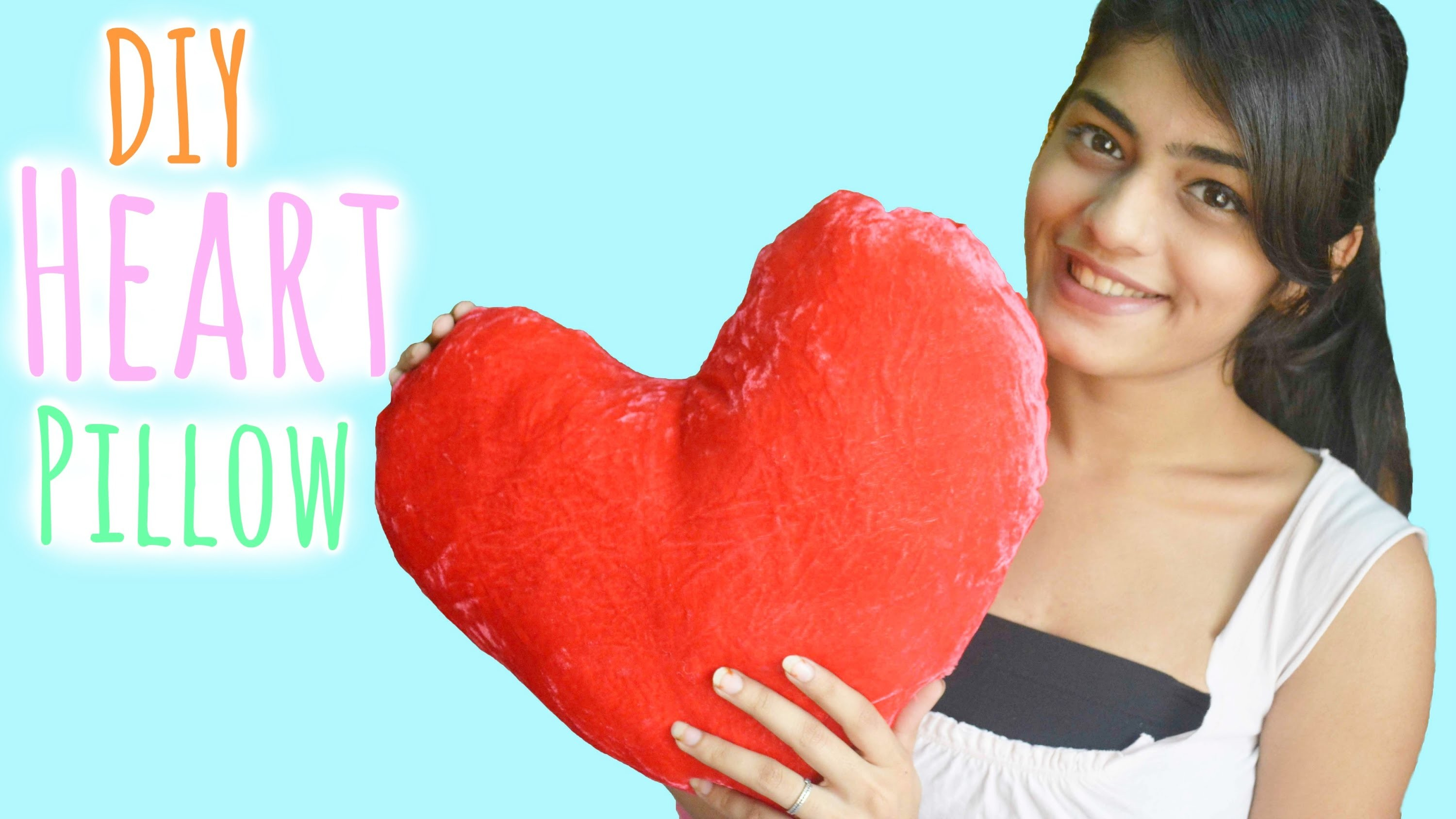 DIY Heart Pillow | Valentine's Day Gift
