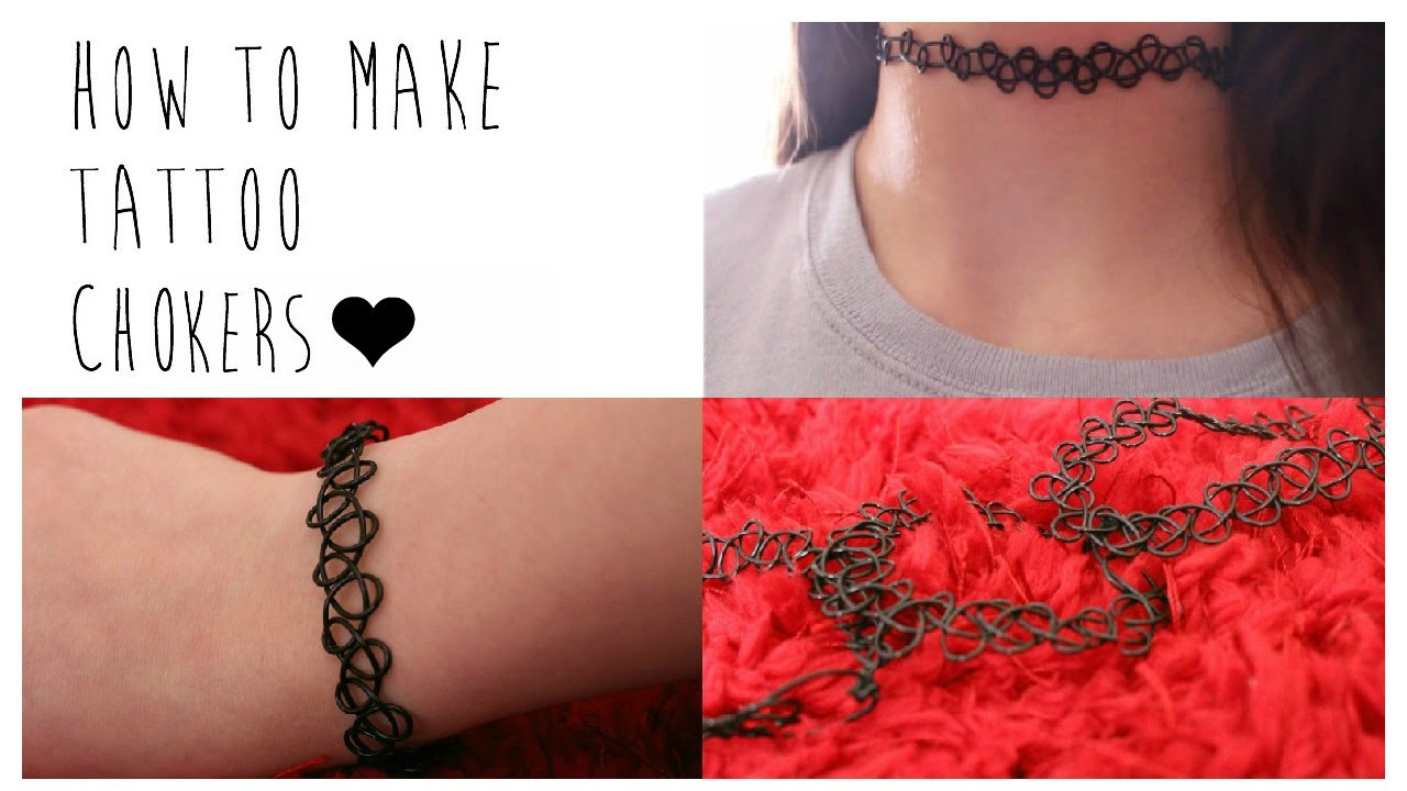 ♡DIY: How to Make Your Own Tattoo Chokers