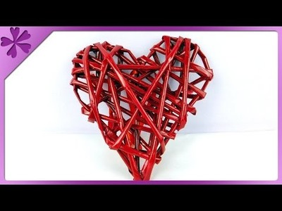 DIY Paper wicker heart (ENG Subtitles) - Speed up #182