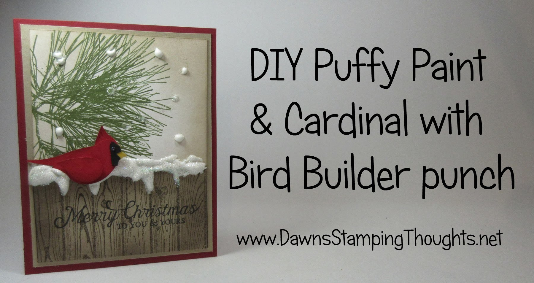 DIY Puffy Paint and Cardinal with Bird Builder Punch from Stampin'Up!