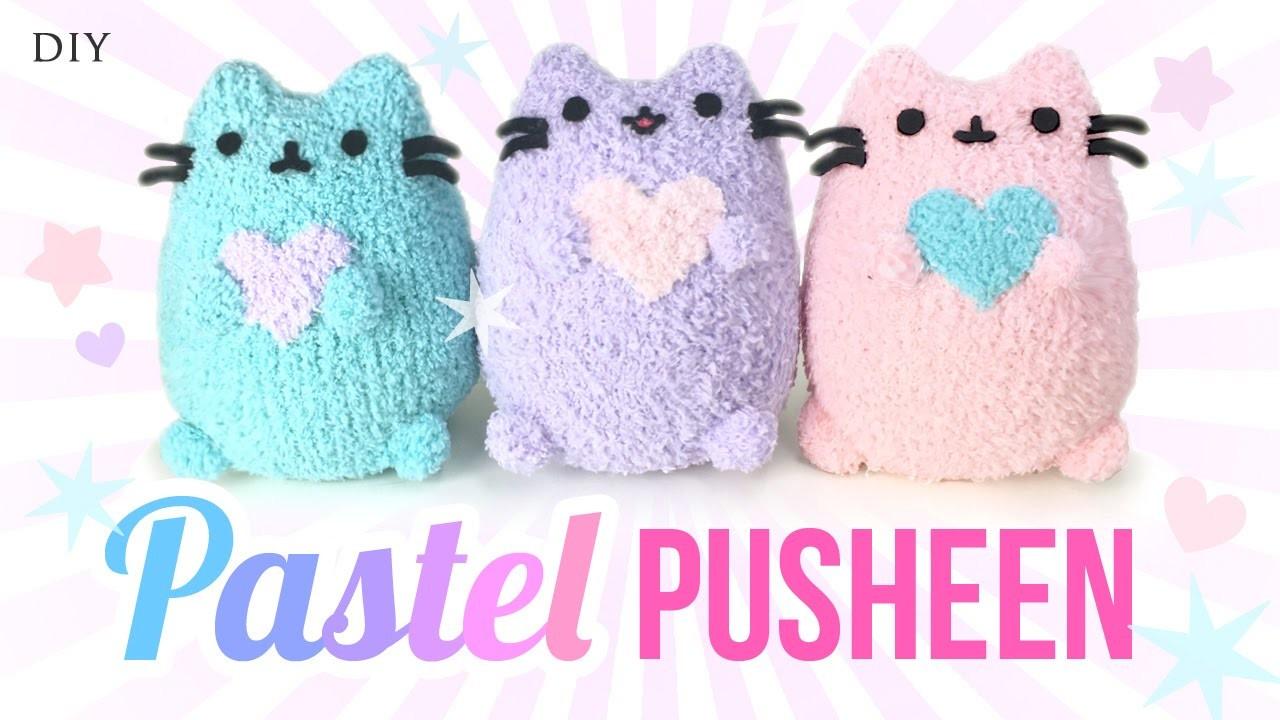 DIY Pusheen Cat Plush - Make Adorable Budget Plushies Using SOCKS!!