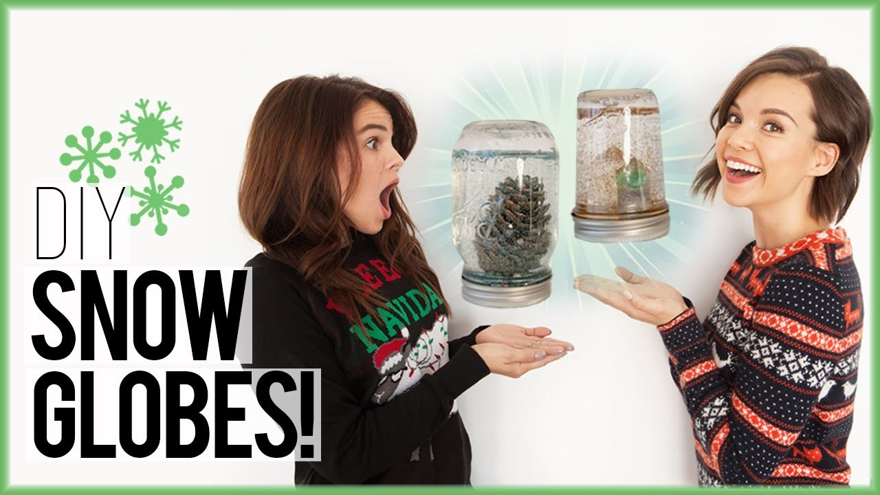 DIY Snow Globes from a Mason Jar ft. CarrieRad!. #DIYDecember Day 8