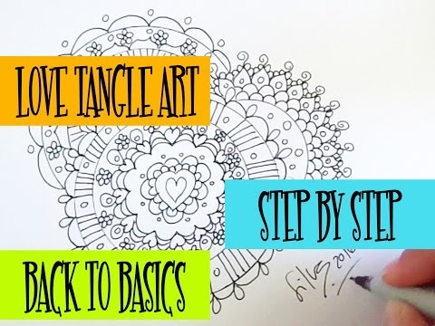 DIY Speed Drawing: How to Draw Zentangle Art (LoveTangle art) Step by Step (Lesson #2)