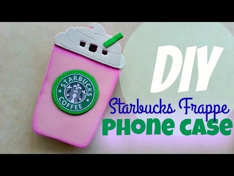 DIY: Starbucks Cotton Candy Frappe Phone Case | NO POLYMER CLAY | alphabetstory