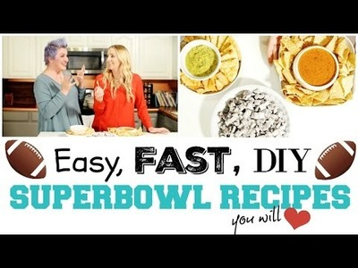 DIY Superbowl Game Day Recipes, Snacks and Treats!