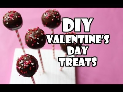 [DIY] VALENTINE'S DAY TREAT IDEAS ❤ CAKE POPS, CHOCO POPCORN, CHOCO PTRETZELS