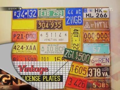 Dsign - DIY - Vintage License Plates
