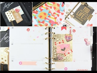 FEBRUARY 2016 KIKKI K PLANNER SET UP ⎜⎜ VALENTINES DAY THEME & DIY EMBELLISHMENTS
