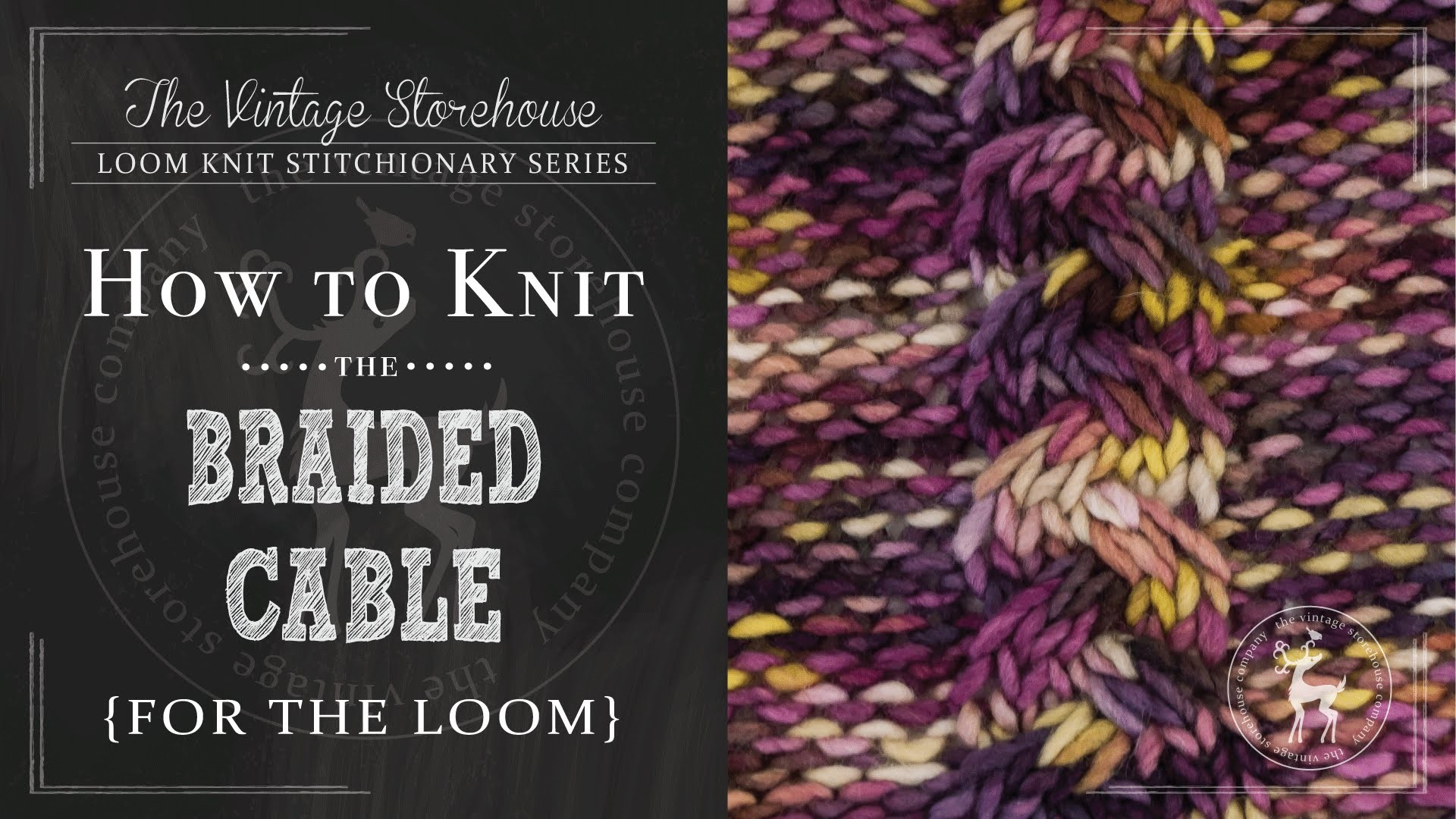 How to Knit the Braided Cable Stitch {For the Loom}