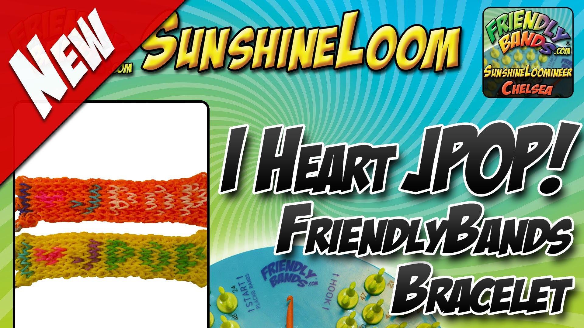 How to Make a FriendlyBands SunshineLoom - I Heart JPop Bracelet Tutorial