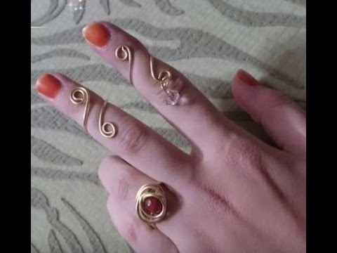 How To Make an Easy Wire Ring - 3 Styles - Tutorial .