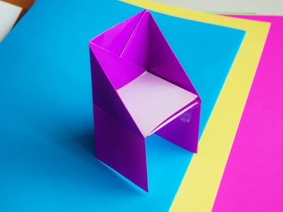 How to make an origami chair