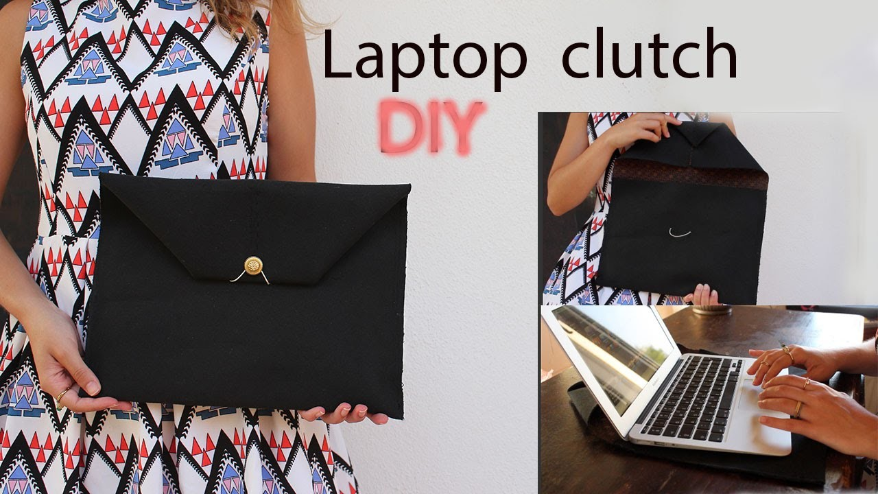 Laptop clutch DIY