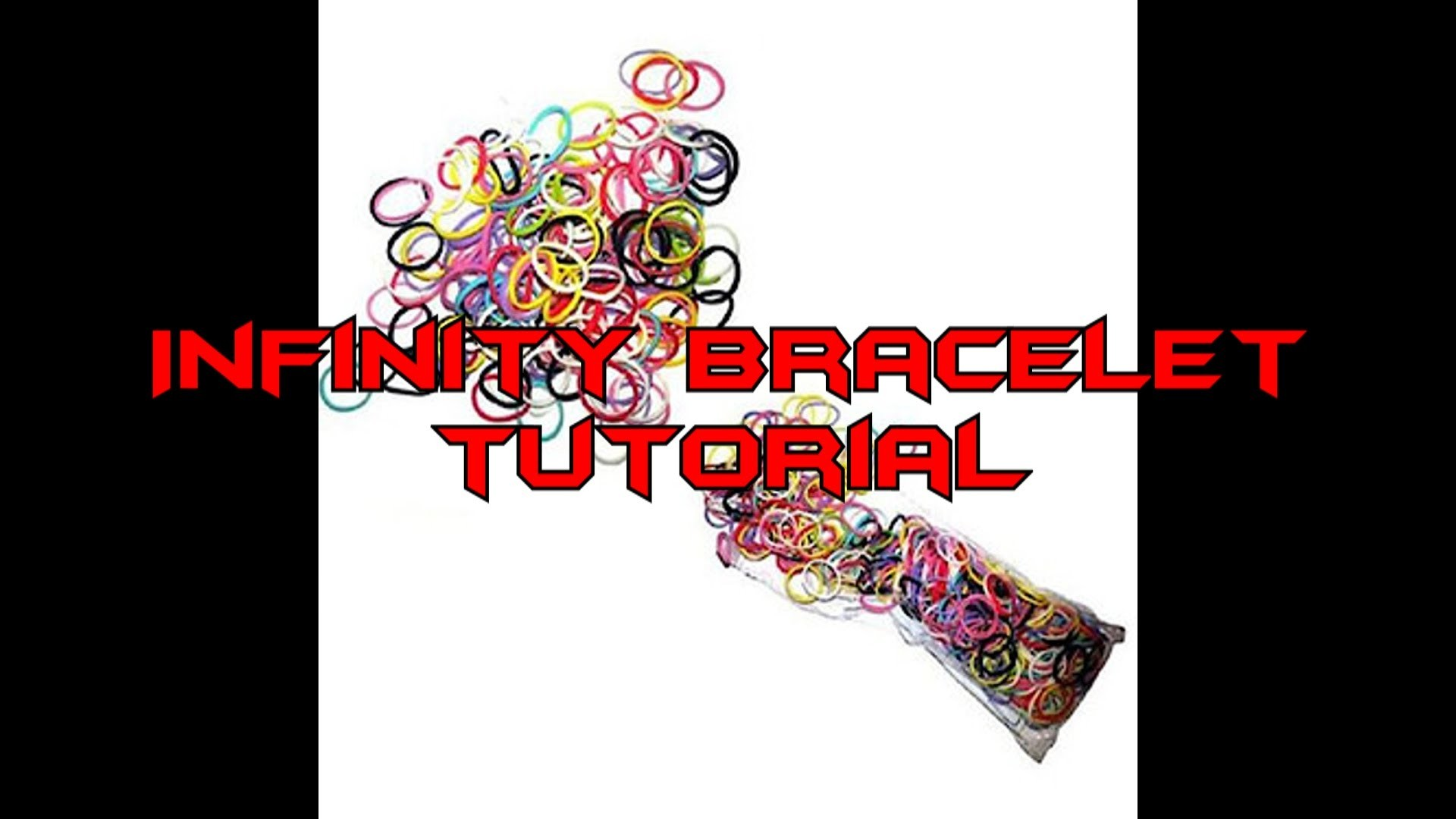 Loom Band Tutorial - How to make an INFINTY Loom Band Bracelet on the RAINBOW LOOM