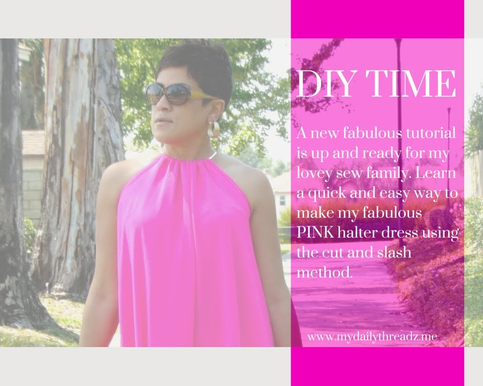 My Hot Pink Halter Dress DIY!