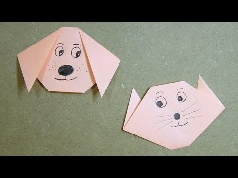 Origami Cat. Dog Tutorial
