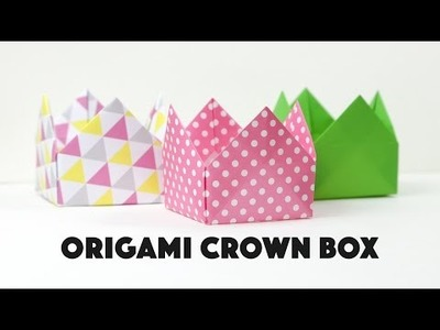 Origami Crown Box Instructions - DIY