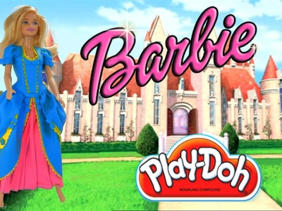 Play Doh craft. Barbie Princess inspired costume dress. HD