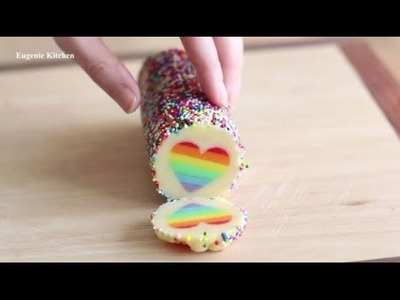 Rainbow Heart Cookies | Valentine Special | DIY