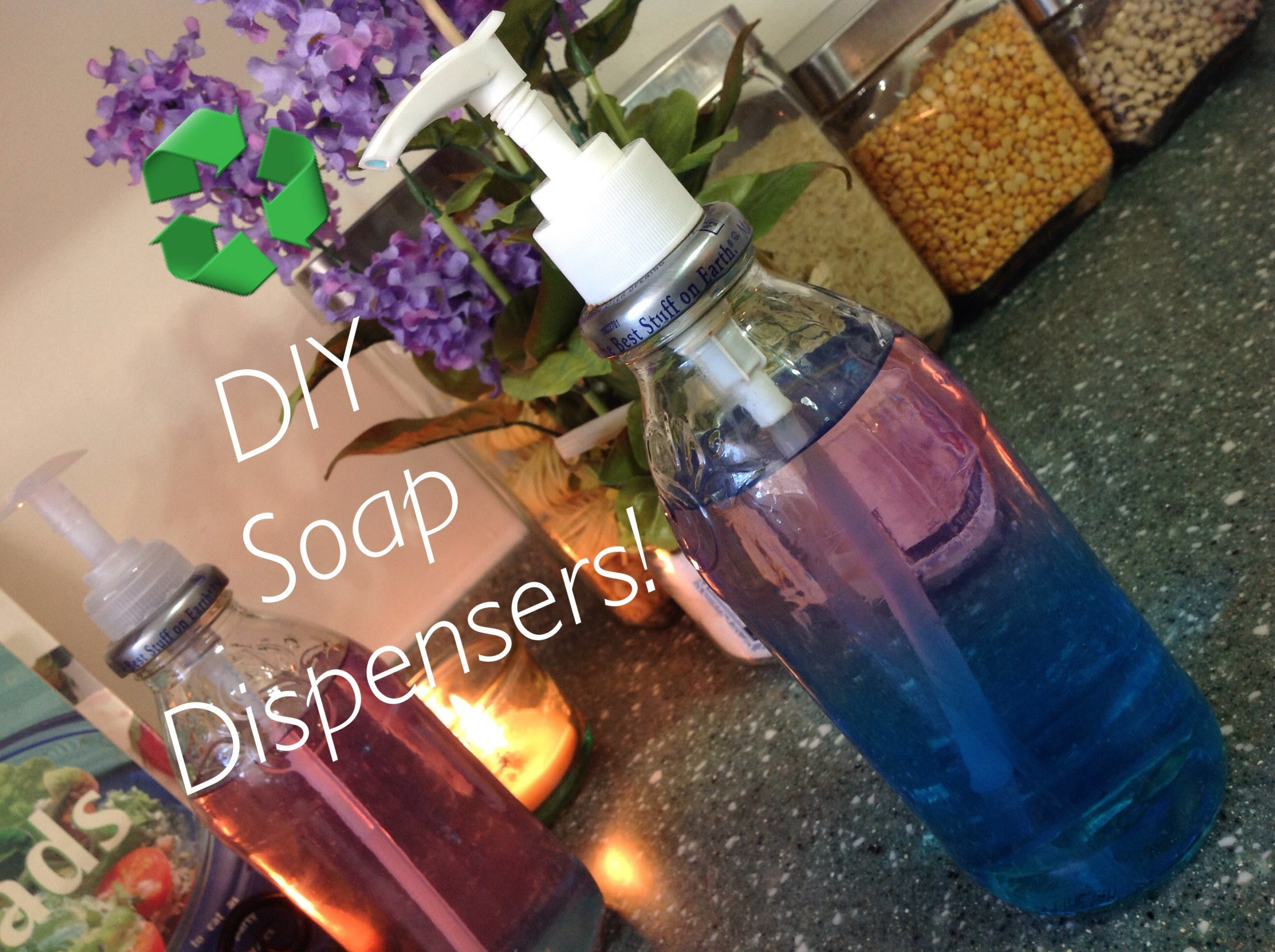 RECYCLING : DIY Snapple Bottle Soap Dispensers