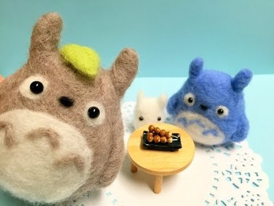 Totoro & Friends Plush DIY Needle Felt Tutorial! ft. Kawaii Felting
