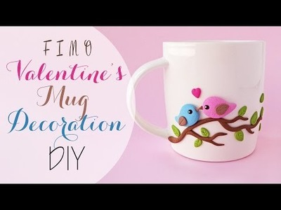 Tuto: S. valentino tazza decorata in fimo - DIY valentine's fimo decorated mug