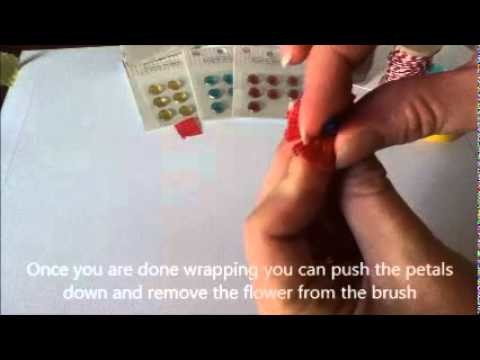 Tutorial--Make Wasi Tape Fringe Flowers