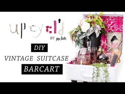 Upcycl'd: From Worn Out Suitcase To Wow Bar Cart | DIY Makeover | Home Decor | Mr Kate