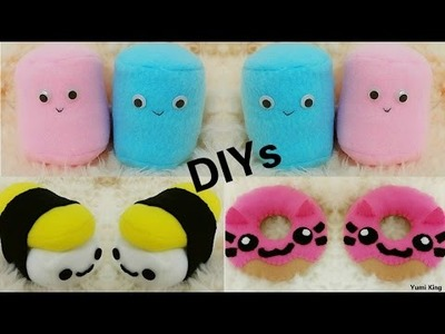 3 Room Decor DIYs: DIY Cat Donut plush+DIY Sushi Plush+DIY Marshmallow Plush + Cheap Haul