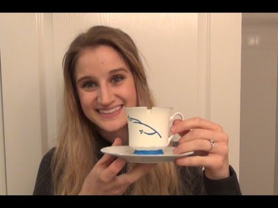 Belle's Chipped Tea Cup- DIY Once Upon A Time Tutorial- Belle Cosplay