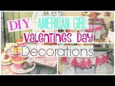 DIY American Girl Doll Valentines Day Room Decor + Decorating My Dollhouse!
