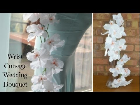 DIY Bridal Bouquet:  Corsage style wedding flowers