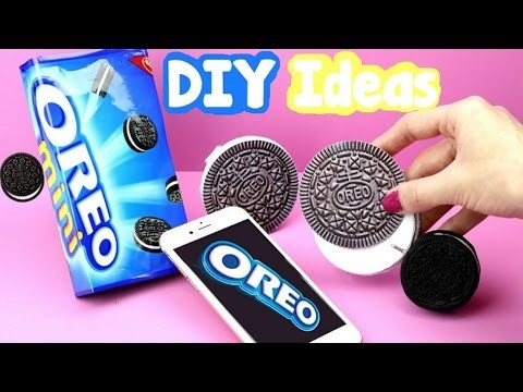 DIY Crafts: 3 Fun Oreo Cookie DIYs -  Oreo Notebook, Miniature Pen & Oreo Phone Case