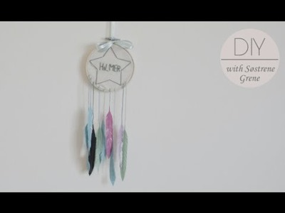 DIY: Dreamcatcher from embroidery frame by Søstrene Grene