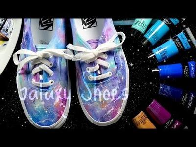 DIY: Galaxy Vans! Using Acrylic Watercolor!