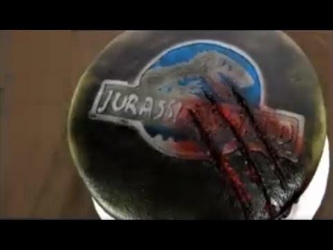 DIY-Jurassic park Cake