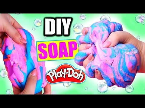 DIY PLAYDOUGH SOAP! How To Make Squishy Play-Doh Soap!