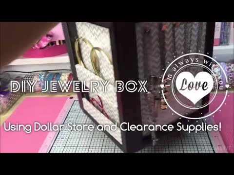 Dollar Tree Diy|Jewelry Box and Display|Valentine's Gift Idea|Organizer