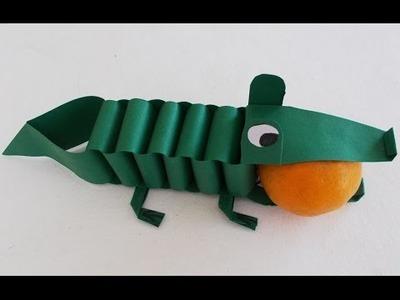 Easy Fun Crafts for Kids: Diy Paper Crocodile Tutorial | DIY Project Ideas | Simple Origami