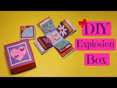 Explosion box. Exploding box. Birthday box. DIY. Handmade box. Tutorial