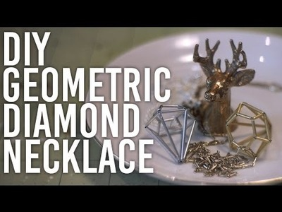 How to Make Geometric Diamond Necklace : DIY