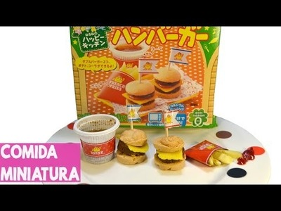 Kracie happy kitchen - Mini Hamburger [Comida Miniatura DIY]