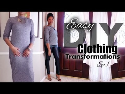 Leather Hem Sweater | Easy Clothes Transformations Ep.1 | Blueprint DIY Refashion