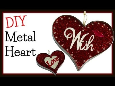 Resin Metal Glitter Heart DIY ~ Craft Klatch Valentine's Day Series