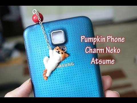 Tutorial: Pumpkin DIY Neko Atsume Phone Charm - Polymer Clay