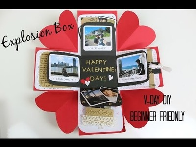 Valentines Day Exploding Box | DIY | Easy.Beginner Friendly