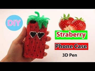 3D Pen Art: How to Make Strawberry Phone Case DIY by Creative World