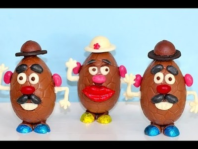 Chocolate Easter Egg MR POTATO HEADS! | How to DIY your Easter Eggs | My Cupcake Addiction