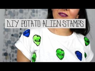 DIY Alien Potato Stamps