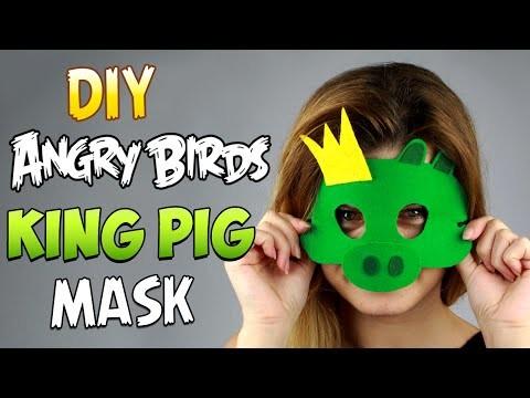 DIY Angry Bird King Pig Mask
